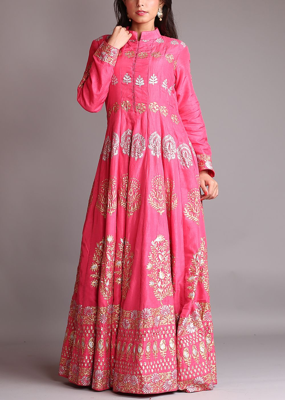 Dark-Pink-Silk-Anarkali-Suit