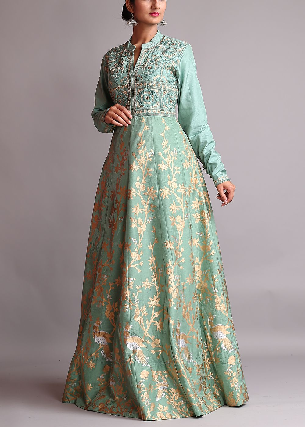 Green-Silk-Anarkali-Suit