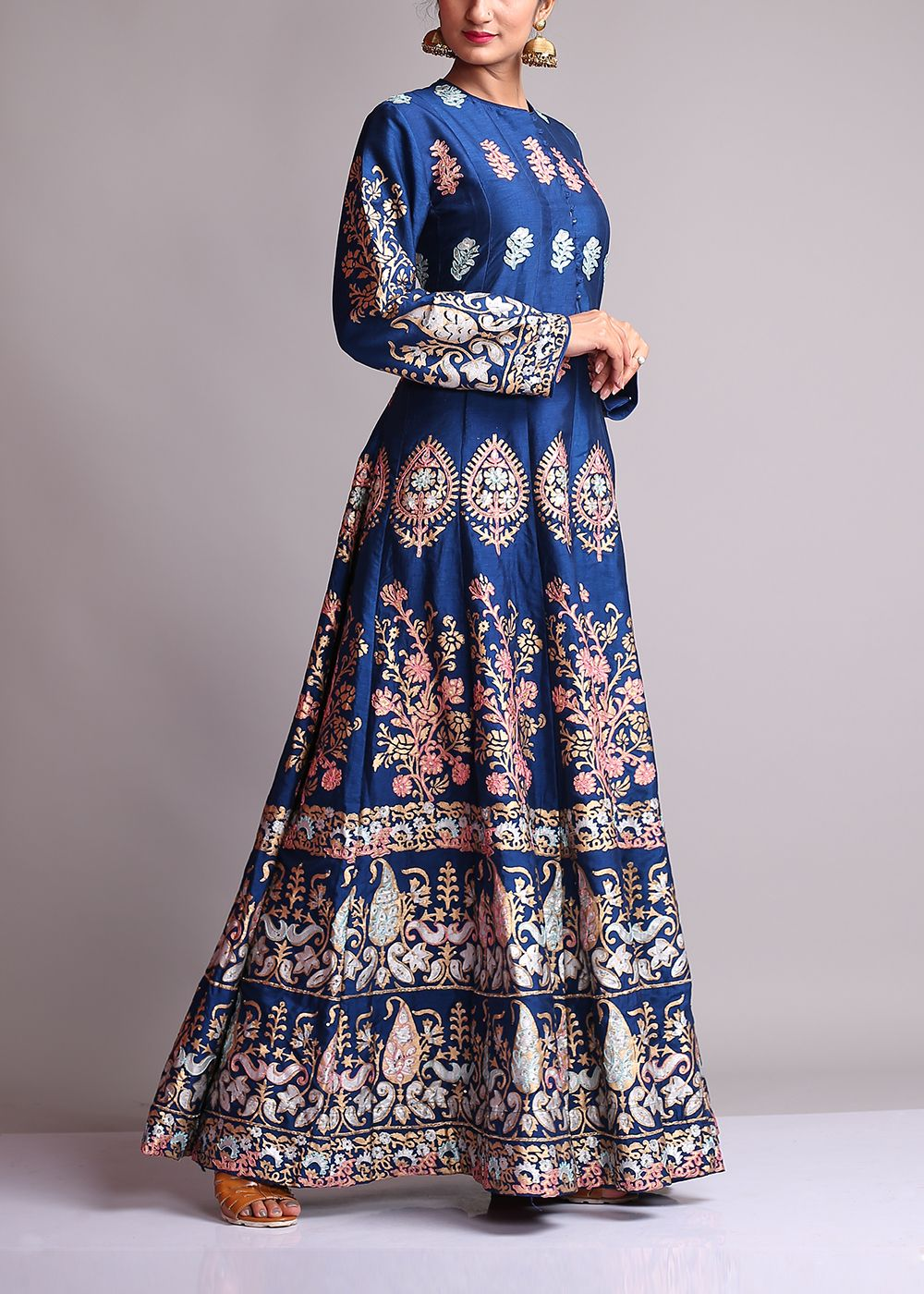 Navy-Blue-Silk-Anarkali-Suit