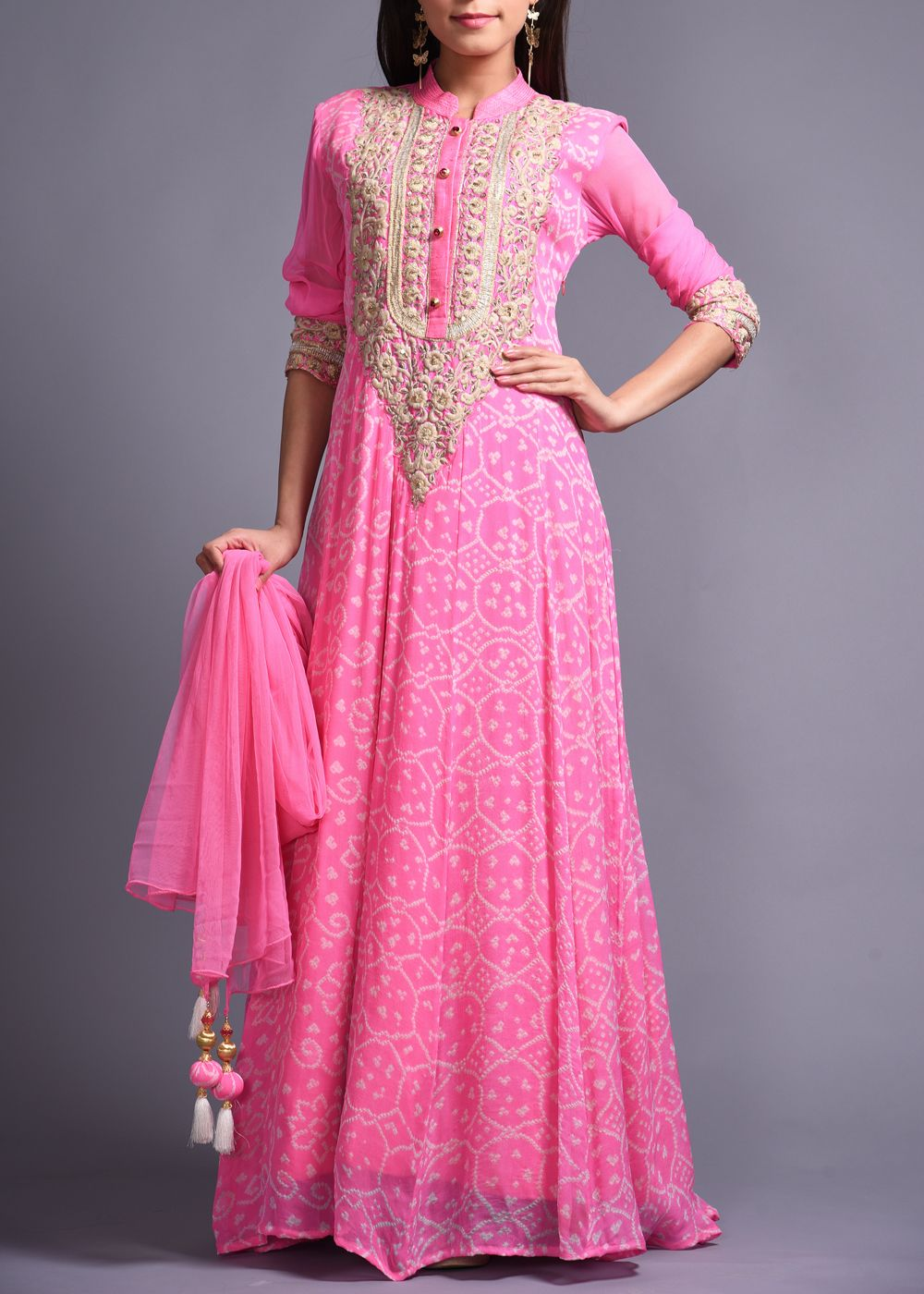 Pink-Georgette-Anarkali-Suit