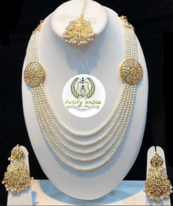 Goldplated Jadau Set