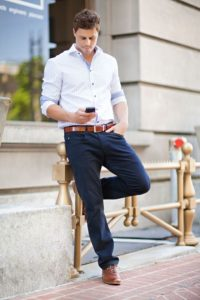 chinos with shirt