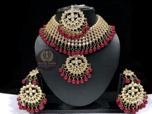 red jewelry piece