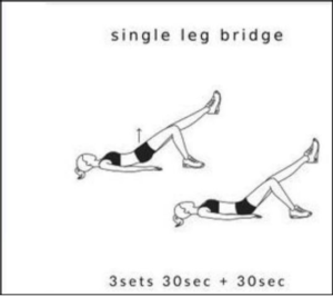 single leg bridge