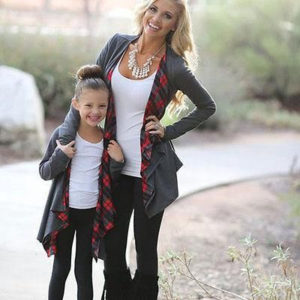 long cardigans mother daughter outfits
