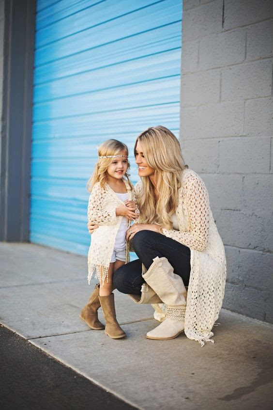 Mother daughter winter outfits