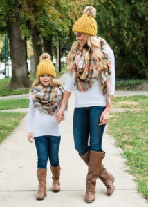 mother daughter matching scarves