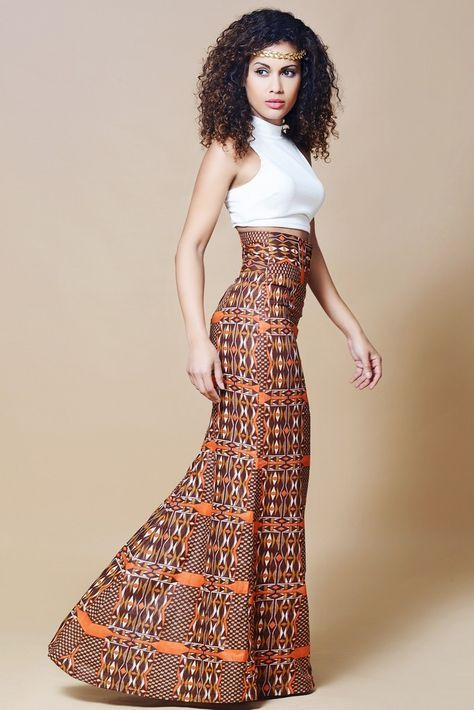 African printed skirt