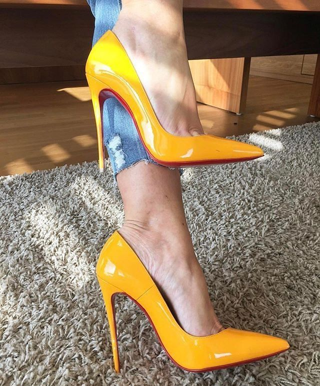 canary yellow shoes