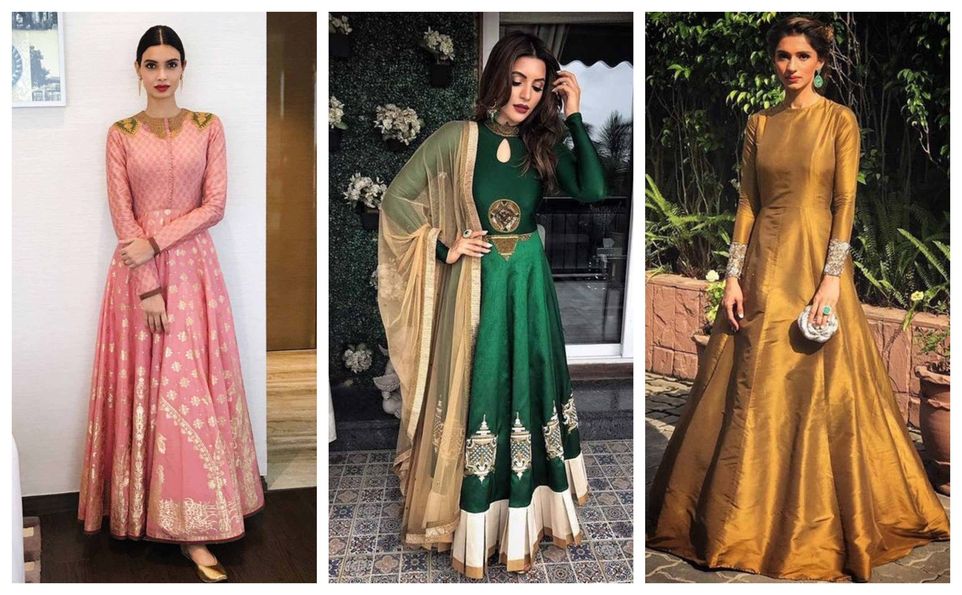 ethnic gown karwa chauth outfit ideas