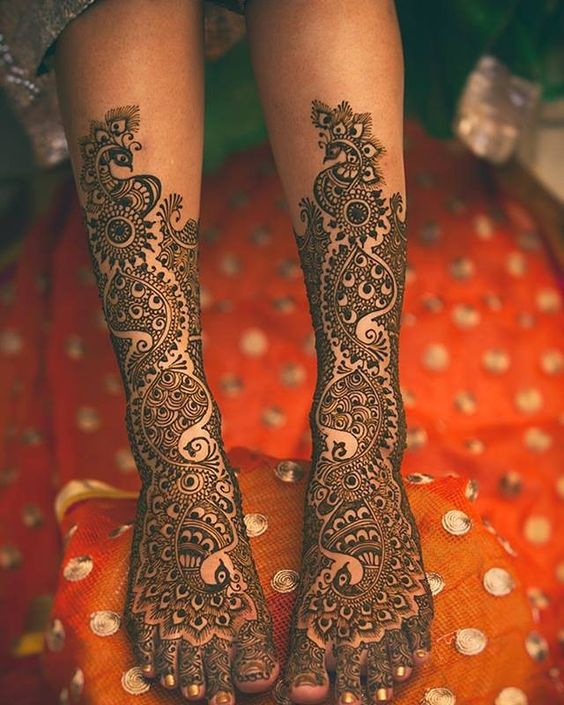 latest mehndi designs for bride 2018