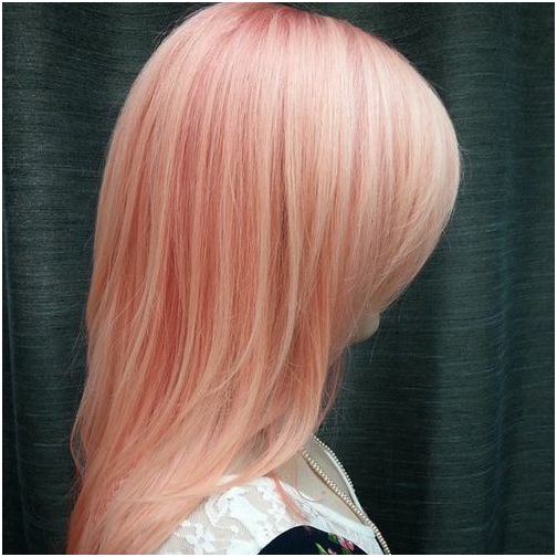 Coral Pink hair color