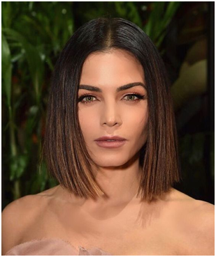 Sleek and Single length bob
