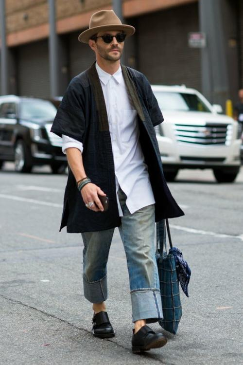Oversize pant with a long shirt