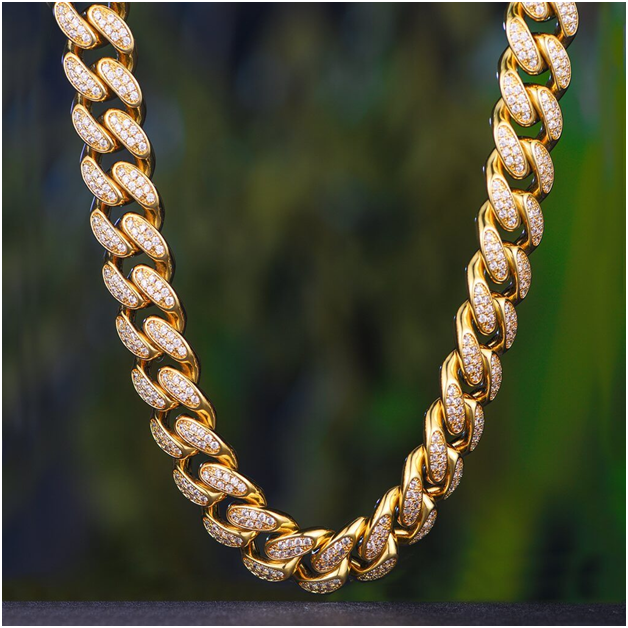 Iced Out Cuban Chain neck chain men