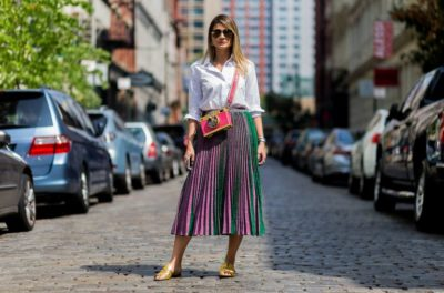 pleated skirt outfit ideas