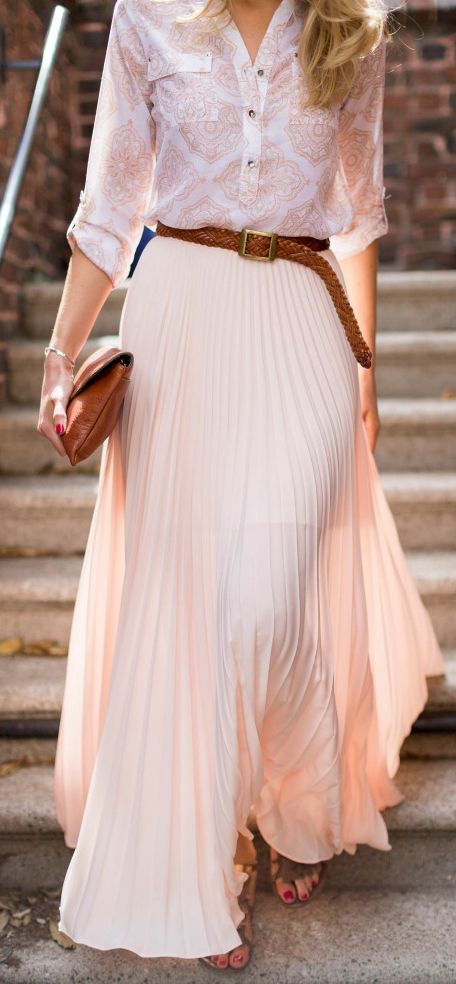 pleated skirt with shirt